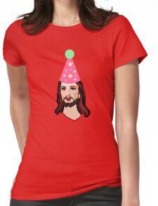 Happy Birthday Jesus Funny Christmas Shirt Womens Fitted T-Shirt