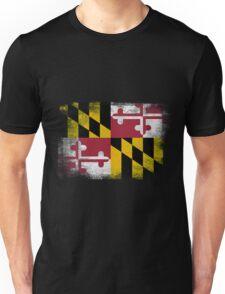 Maryland State Flag Distressed Vintage  Unisex T-Shirt