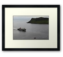 MV Hebrides approaching Uig Framed Print
