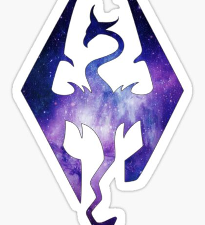 Blended Galaxy Seal of Akatosh Sticker