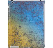 Blue Yellow Background - Rusty metal texture iPad Case/Skin