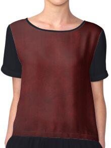 vintage design background - dark red  texture Chiffon Top