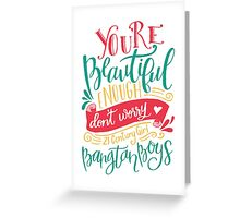 BTS - 21 Century Girl White Greeting Card