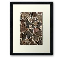 stone wall texture / background Framed Print