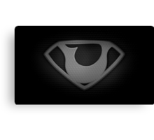"""The Letter U in the Style of """"Man of Steel"""" Canvas Print"""