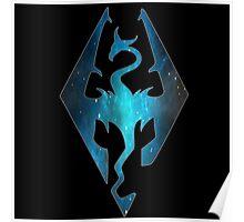 Blue Galaxy Seal of Akatosh Poster