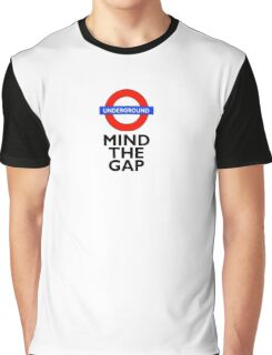 TUBE, London, Underground, Mind the gap, BRITISH, BRITAIN, UK, English, on WHITE Graphic T-Shirt