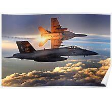 F-18 Sunset Poster