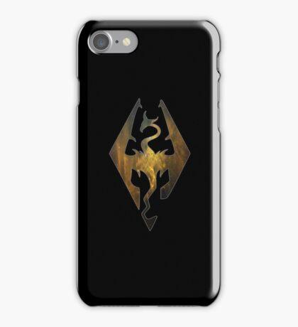 Gold Galaxy Seal of Akatosh 1 iPhone Case/Skin
