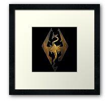 Gold Galaxy Seal of Akatosh 1 Framed Print
