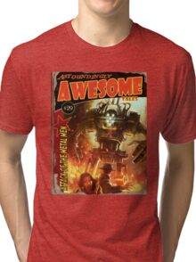 Attack of the Metal Men Tri-blend T-Shirt