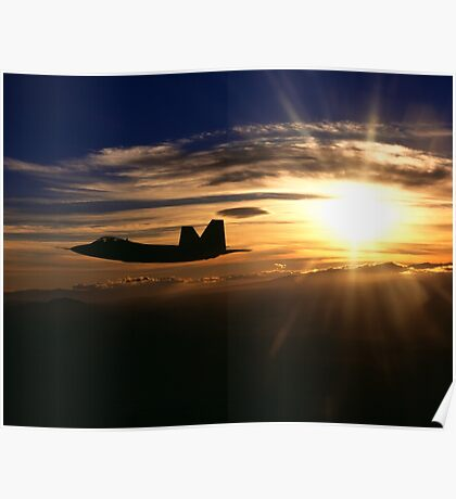 F/A-22 Raptor Sunset Poster