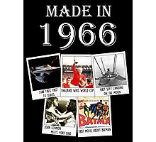 Made in 1966, main historical events Photographic Print