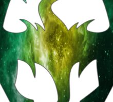 Green Galaxy Seal of Akatosh Sticker