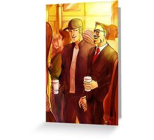 Superhusbands Coffee Break Greeting Card