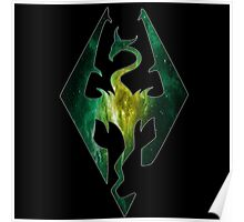 Green Galaxy Seal of Akatosh Poster