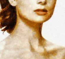 Audrey Hepburn Hollywood Actress Sticker