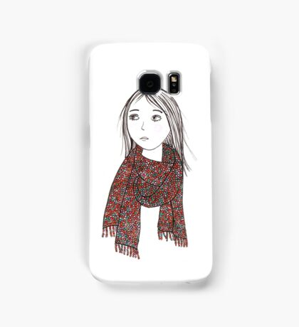 Girl with knitted sjawl Samsung Galaxy Case/Skin
