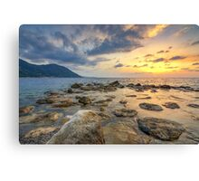 Atmosphere at sunset Canvas Print