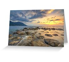 Atmosphere at sunset Greeting Card