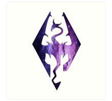 Pink Purple Galaxy Seal of Akatosh Art Print
