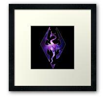 Purple Galaxy Seal of Akatosh Framed Print