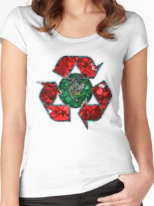 Recycle World Women's Fitted Scoop T-Shirt