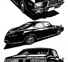 Nissan Cedric 330 Ink Art By Berlioz!!! by Godfoot808
