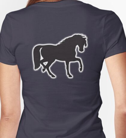 Horse, Pony, Stallion, Steed, silhouette, Womens Fitted T-Shirt