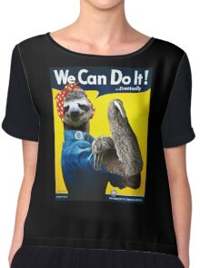 We Can Do It (...Eventually) Sloth Chiffon Top