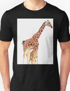 Giraffe Art - A Mother's Love - By Sharon Cummings Unisex T-Shirt