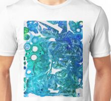 Sea Leaves, Environmental Love of the Ocean Blue Unisex T-Shirt