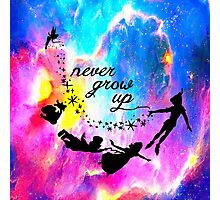 Never Grow U p Nebula Blue Photographic Print