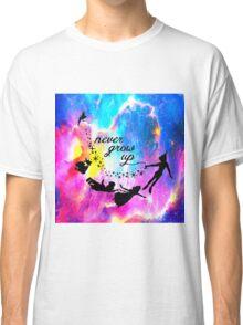 Never Grow U p Nebula Blue Classic T-Shirt