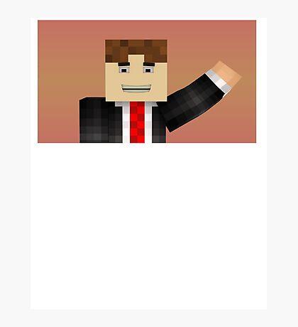 Minecraft Guy Hello! Photographic Print