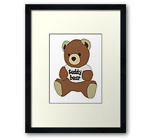 Teddy Bear, Cute Framed Print