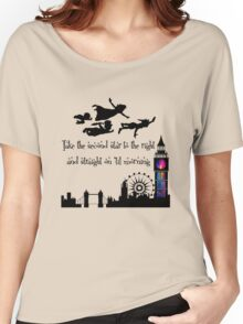 Peter Pan Take The Second Star To The Right Women's Relaxed Fit T-Shirt