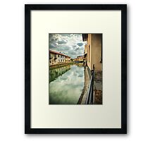 Italian canal with houses Framed Print