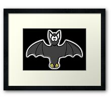 Bat, Cartoon, Halloween, Dracula, Vampire, Horror Framed Print