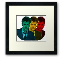 David Tennant colours Framed Print