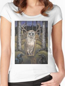 Le Pape Tarot card the Hierophant  Women's Fitted Scoop T-Shirt
