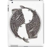 Pisces (black and white) iPad Case/Skin