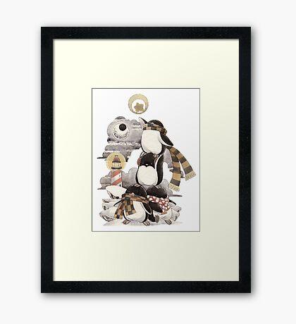 Penguins intrepid Framed Print