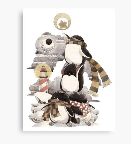 Penguins intrepid Canvas Print