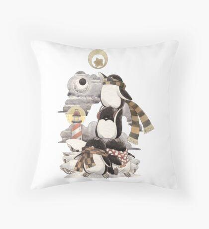 Penguins intrepid Throw Pillow