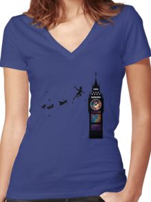 Peter Pan The Second Star Women's Fitted V-Neck T-Shirt