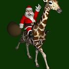 Santa Claus Riding A Giraffe by Mythos57