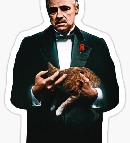 The Godfather's Cat Sticker