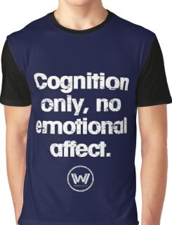 Cognition only - westworld park code  Graphic T-Shirt