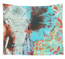 Sketched Indian Elephant Wall Tapestry